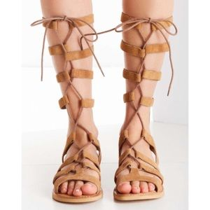 NWT Urban Outfitters Suede Gladiator Sandals